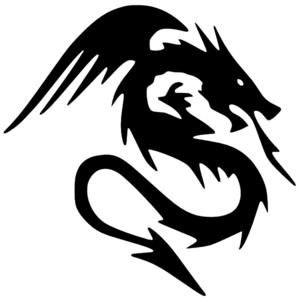 Dragon Clipart Black And White-dragon clipart black and white-6