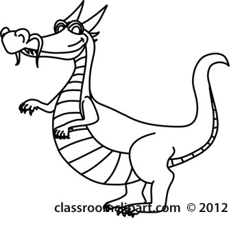 Dragon Clipart Black And White-dragon clipart black and white-7