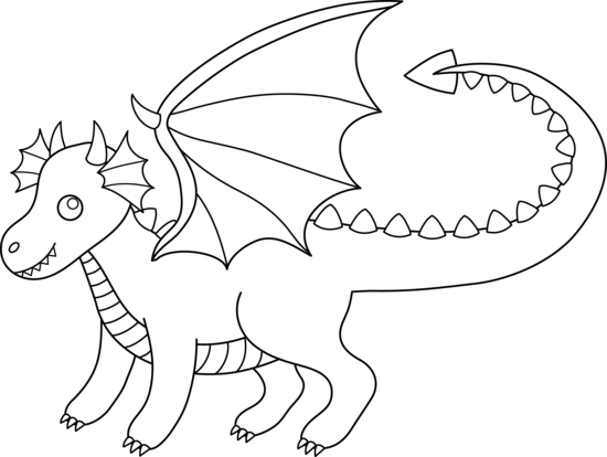 Dragon Outline Clipart-Dragon Outline Clipart-10