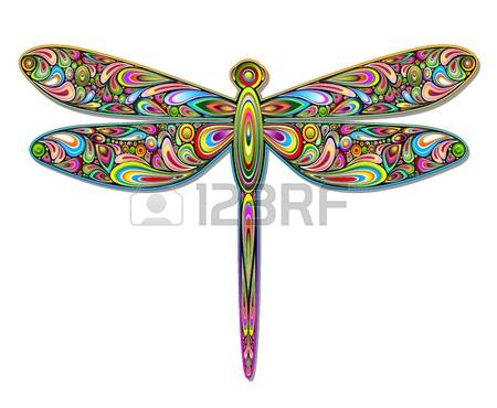 dragonfly: Dragonfly Psychedelic Art Design