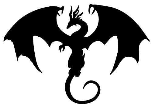 ... Dragons clipart black and white ...
