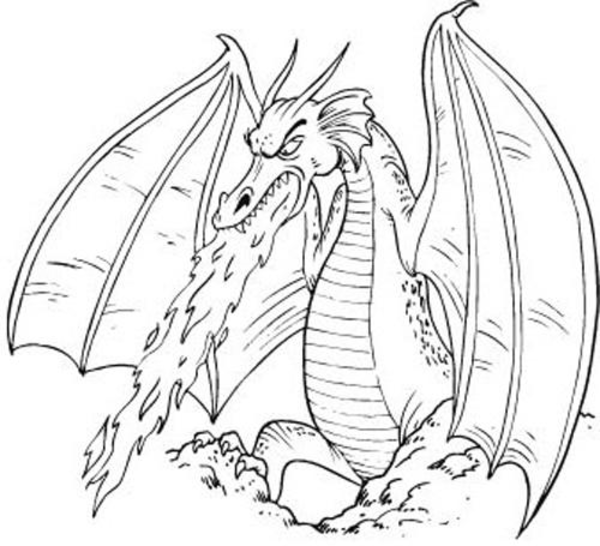 Dragons Free Images At Clker  - Dragon Clipart Black And White