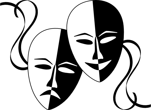 Drama Mask Clipart ... Download This Ima-Drama Mask Clipart ... Download this image as:-8