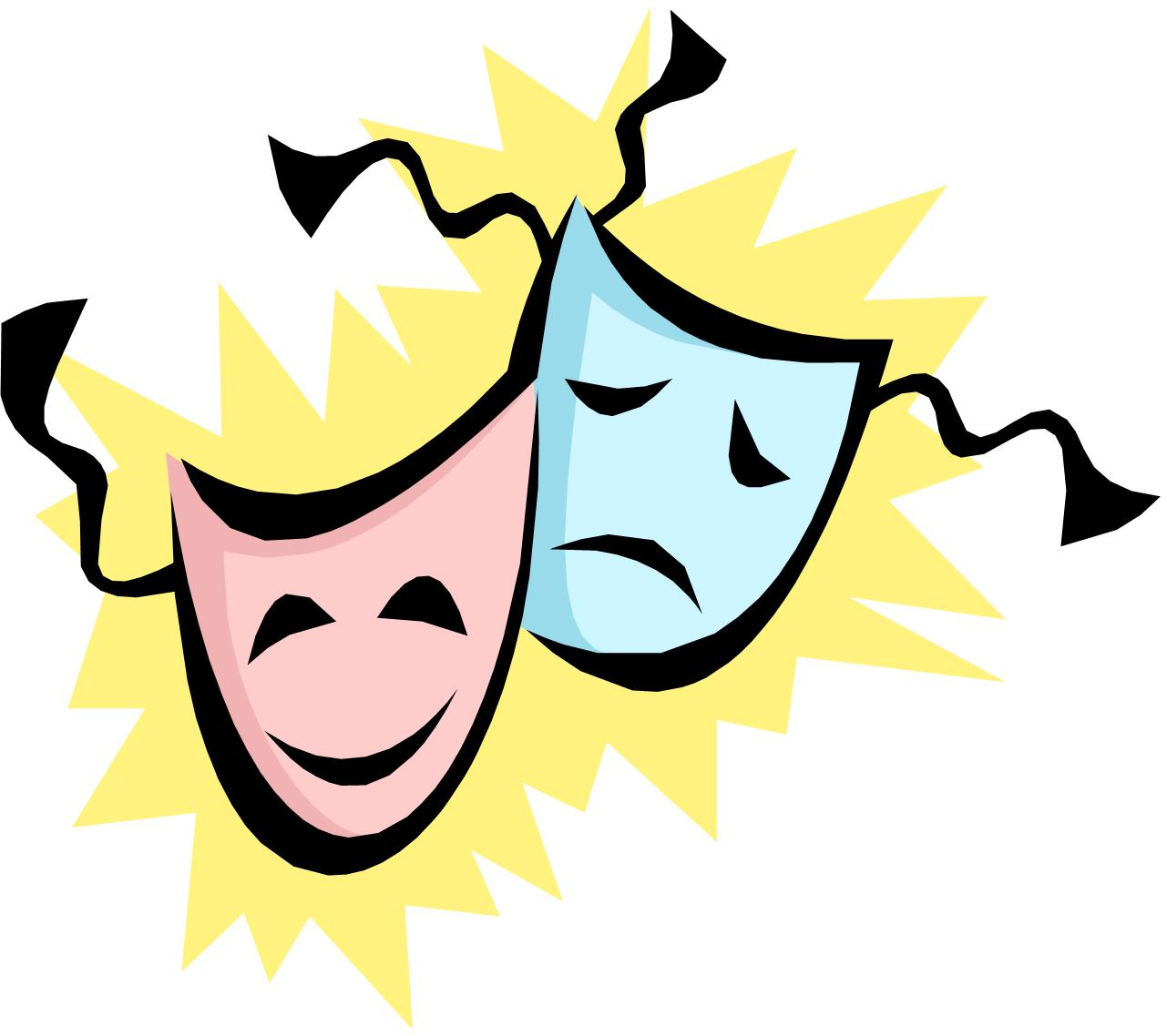 Acting Masks Clipart - Idea .