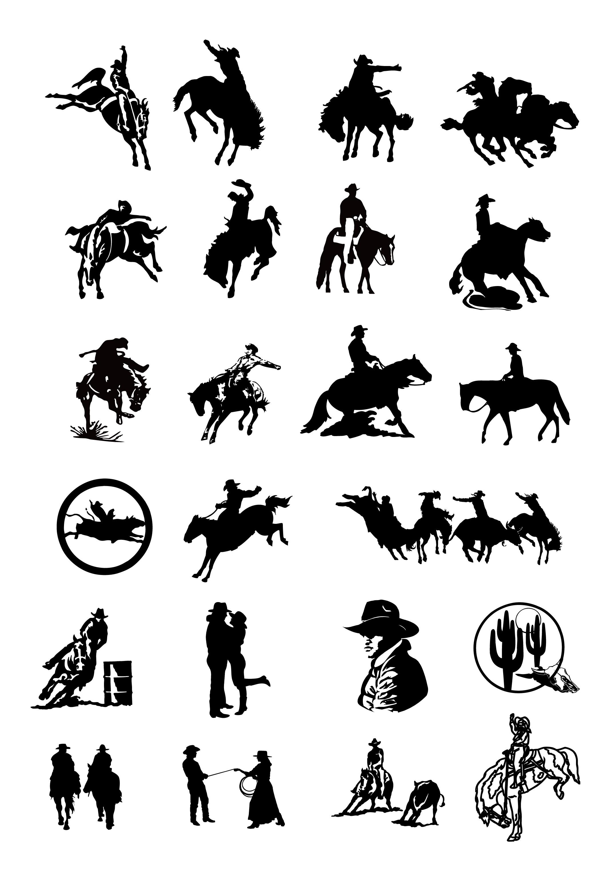 Drawing Clip Art Cowboy .-drawing clip art cowboy .-14