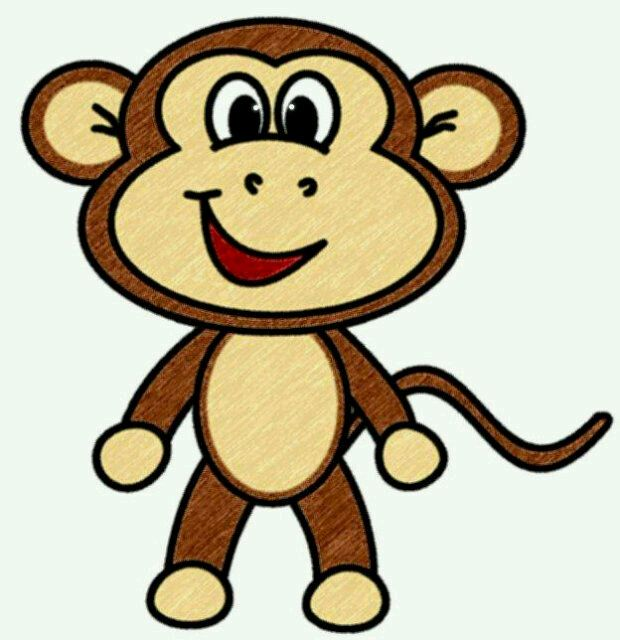 Drawing Cute Monkey Clipart