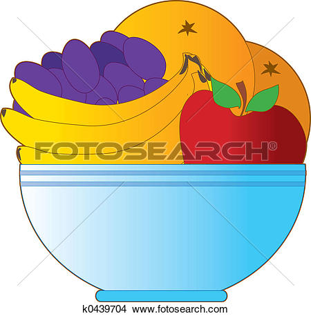 Drawing - Fruit Bowl. Fotosearch - Search Clip Art Illustrations, Wall Posters, and