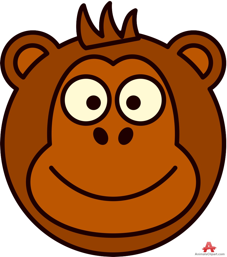 Drawing of Monkey Face Clipart