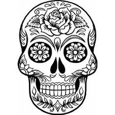 Drawing Sugar Skull Day Of The Dead Skull Tat Sugarskull Drawing