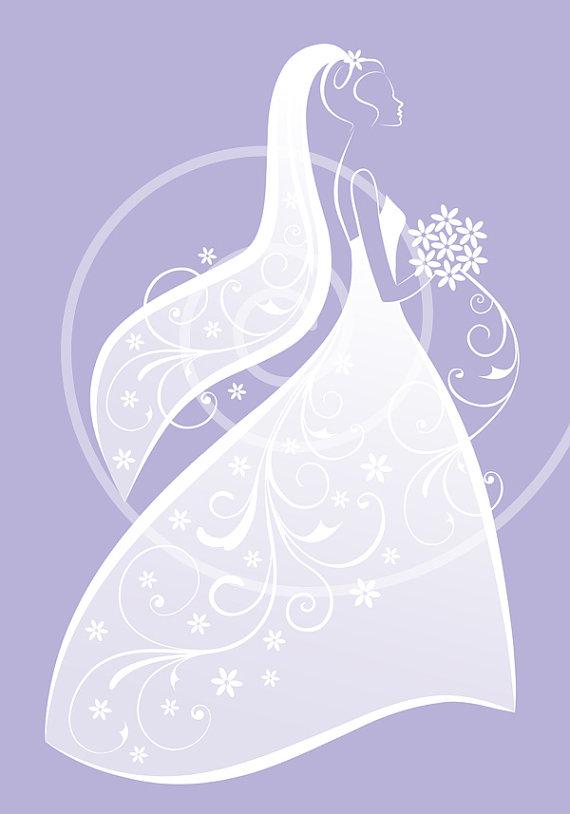 Dress Bridal Shower Wedding Invitation C-Dress Bridal Shower Wedding Invitation Card Print Digital Clipart-12