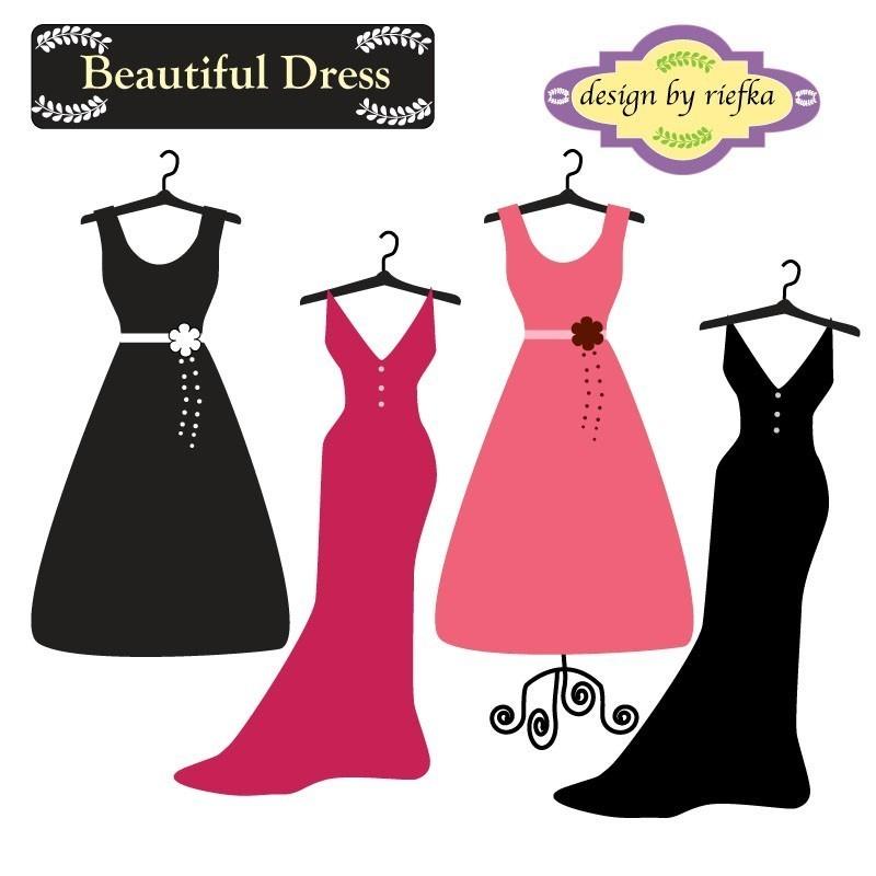 Dress cliparts. Cartoon Wedding Dresses. il_fullxfull.180024369.jpg