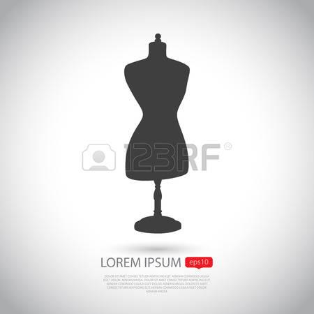 dress form: Mannequin icon. Flat design. Vector illustration. Mannequin icon EPS10.
