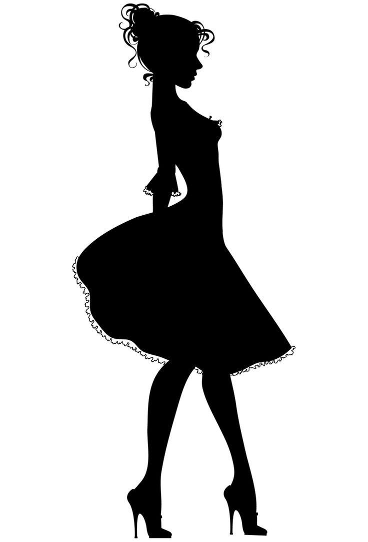 Dress form silhouette clip art women dre-Dress form silhouette clip art women dress silhouettes high-18