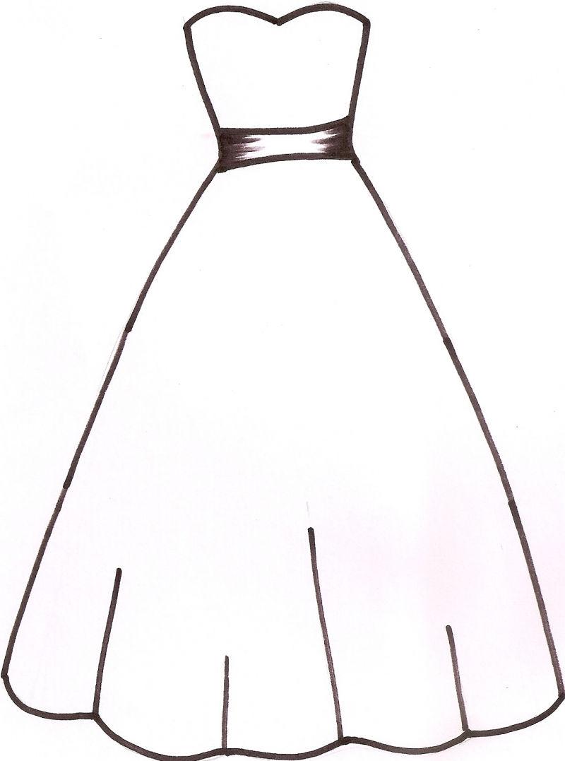 dress outline-dress outline-1