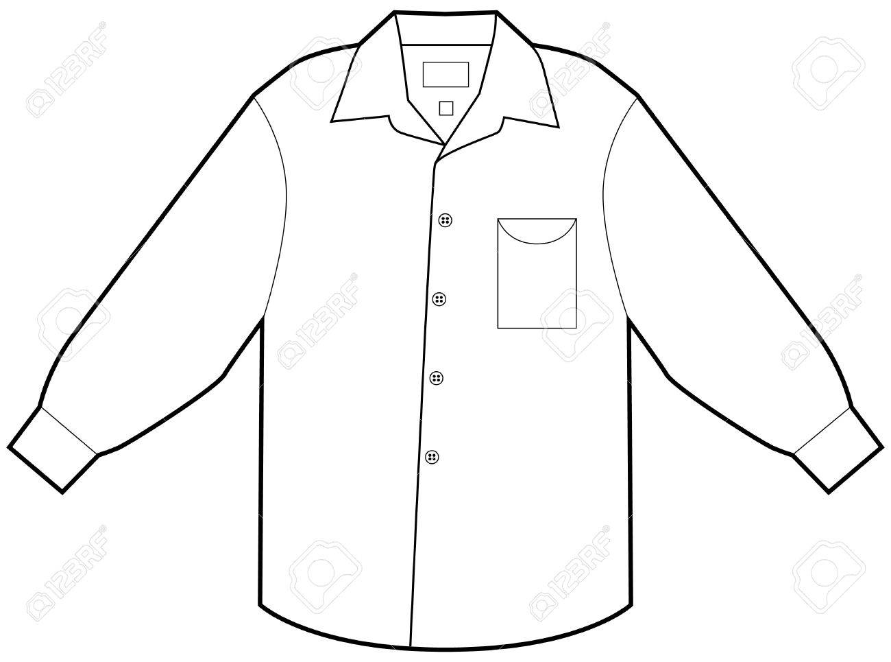 Business dress shirt isolated on a white background. Stock Vector - 6258145