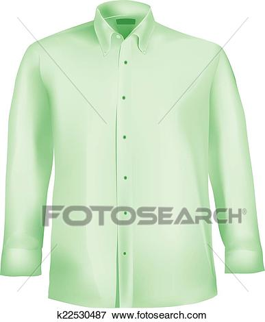 Clip Art - Dress shirt with collar and sleeves. Fotosearch - Search Clipart,  Illustration