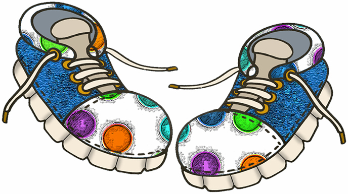 Dress Shoes Clip Art. Cartoon Image Of Shoes