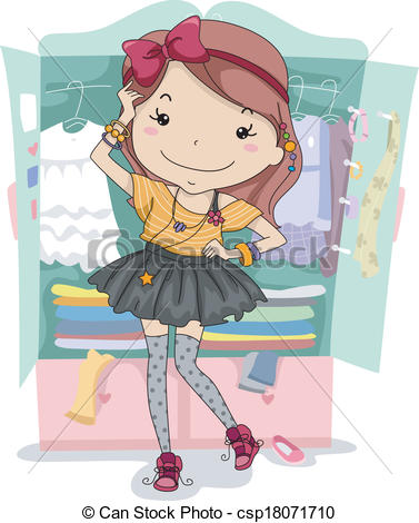 ... Dress Up Closet - Illustration Of A -... Dress Up Closet - Illustration of a Girl Trying Out... Dress Up Closet Clipartby ...-7