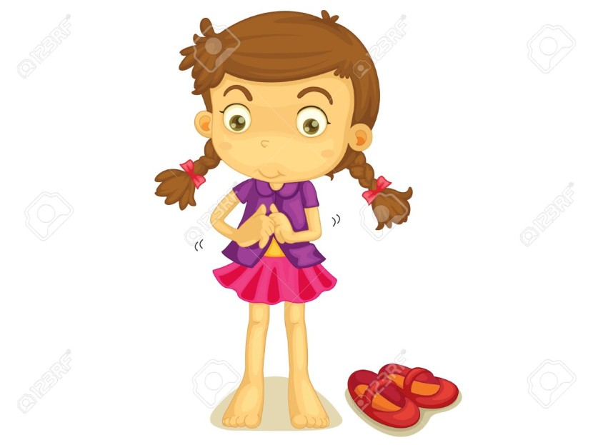 dressing clipart. Illustration Of A Girl Getting Dressed Royalty Free Cliparts