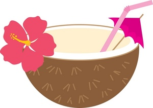 Drink Clipart Image Tropical Coconut Drink