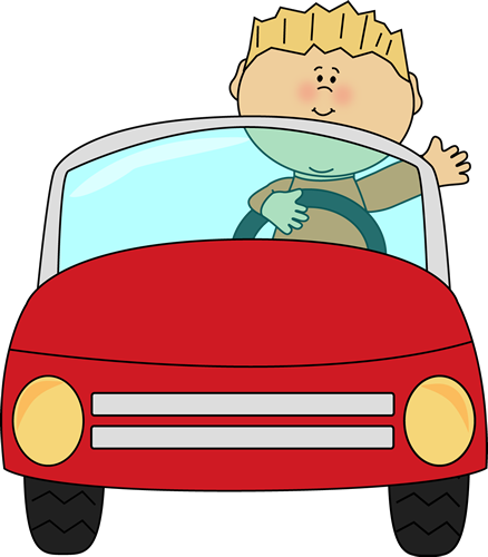 Boy Driving a Car Clip Art -  - Driving Clipart