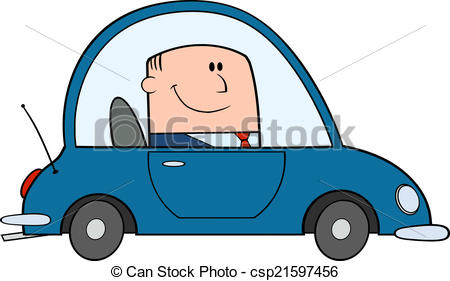Businessman Driving Car - csp21597456