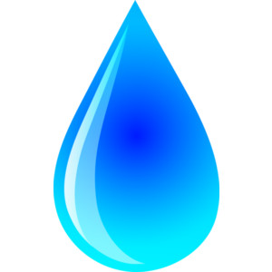 Drop of water clipart
