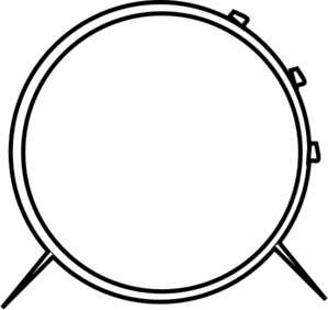 drum clipart black and white-drum clipart black and white-10
