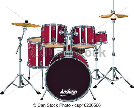 ... Drum Kit - Four piece drum kit Drum Kit Clip Art ...