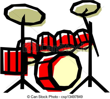 Drum Set Drawingby ...
