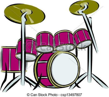 Drum Set Stock Illustrationby ...
