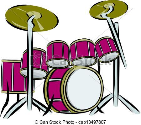 Drum Set Stock Illustrationby ...