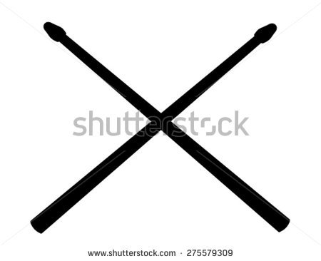 Crossed Drum Sticks