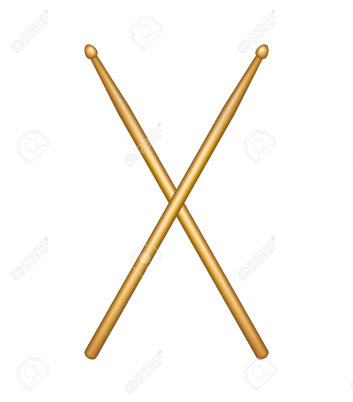 Crossed pair of wooden drumsticks Stock Vector - 26574413