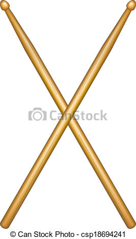 wooden drumsticks - csp18694241