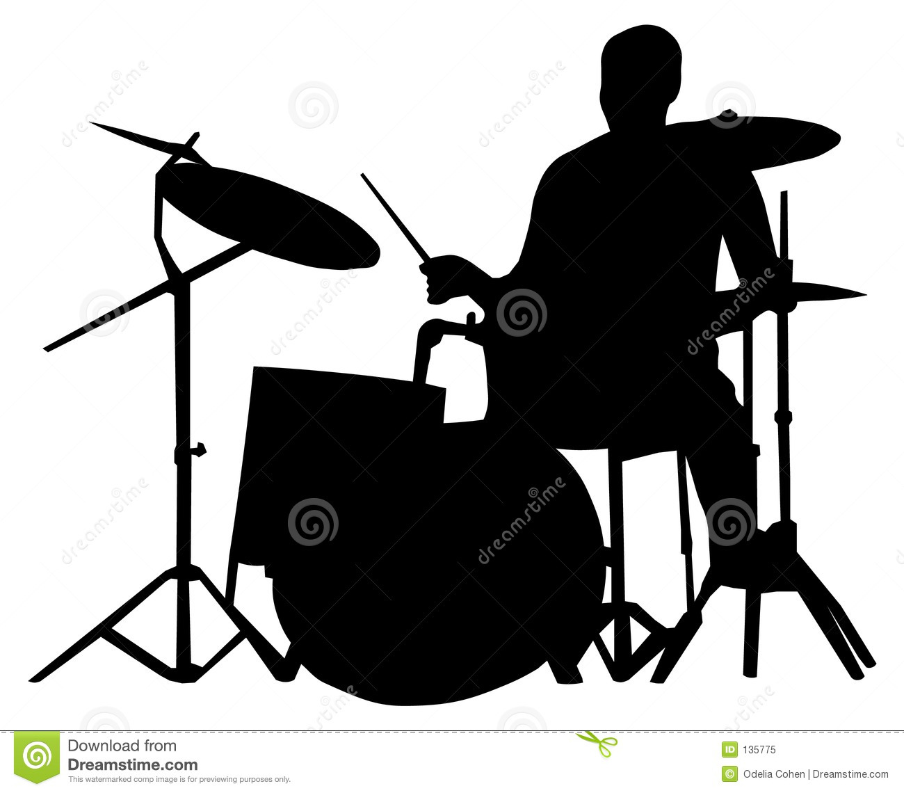 Drummer Silhouette Royalty Free Stock Ph-Drummer silhouette Royalty Free Stock Photo-10