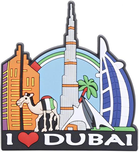 Aventus Rubber I Love Dubai Magnet - Mul-Aventus Rubber I Love Dubai Magnet - Multi Color-0