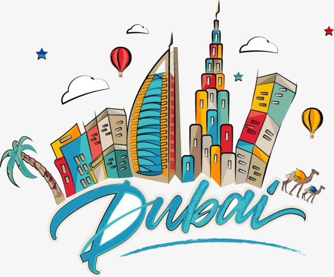 Cartoon Dubai City Building, Cartoon, Ve-cartoon dubai city building, Cartoon, Vector, Dubai PNG and Vector-2