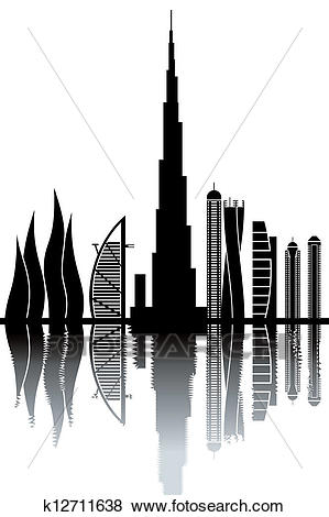Clip Art - Dubai Skyline. Fotosearch - S-Clip Art - Dubai skyline. Fotosearch - Search Clipart, Illustration  Posters, Drawings,-3