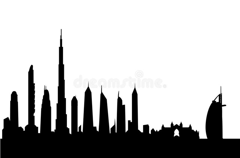 Download Dubai Skyline Silhouette Vector-Download Dubai Skyline Silhouette Vector Stock Vector - Illustration of  historic, most: 8660535-4