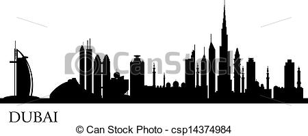 Dubai City Silhouette - Csp14374984-Dubai city silhouette - csp14374984-6