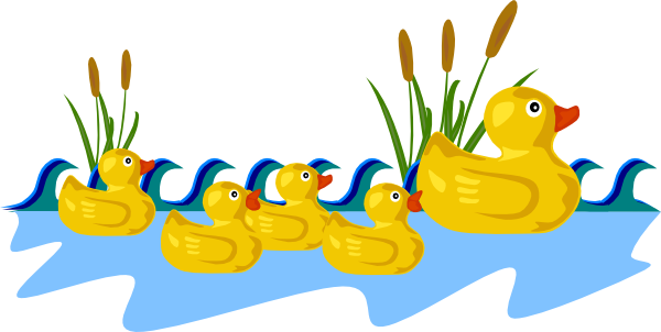 duck and ducklings clipart