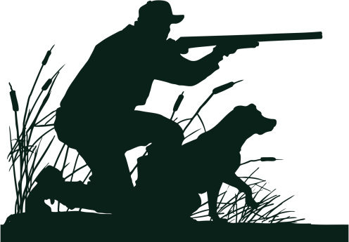 Duck Hunter with Retrieving .