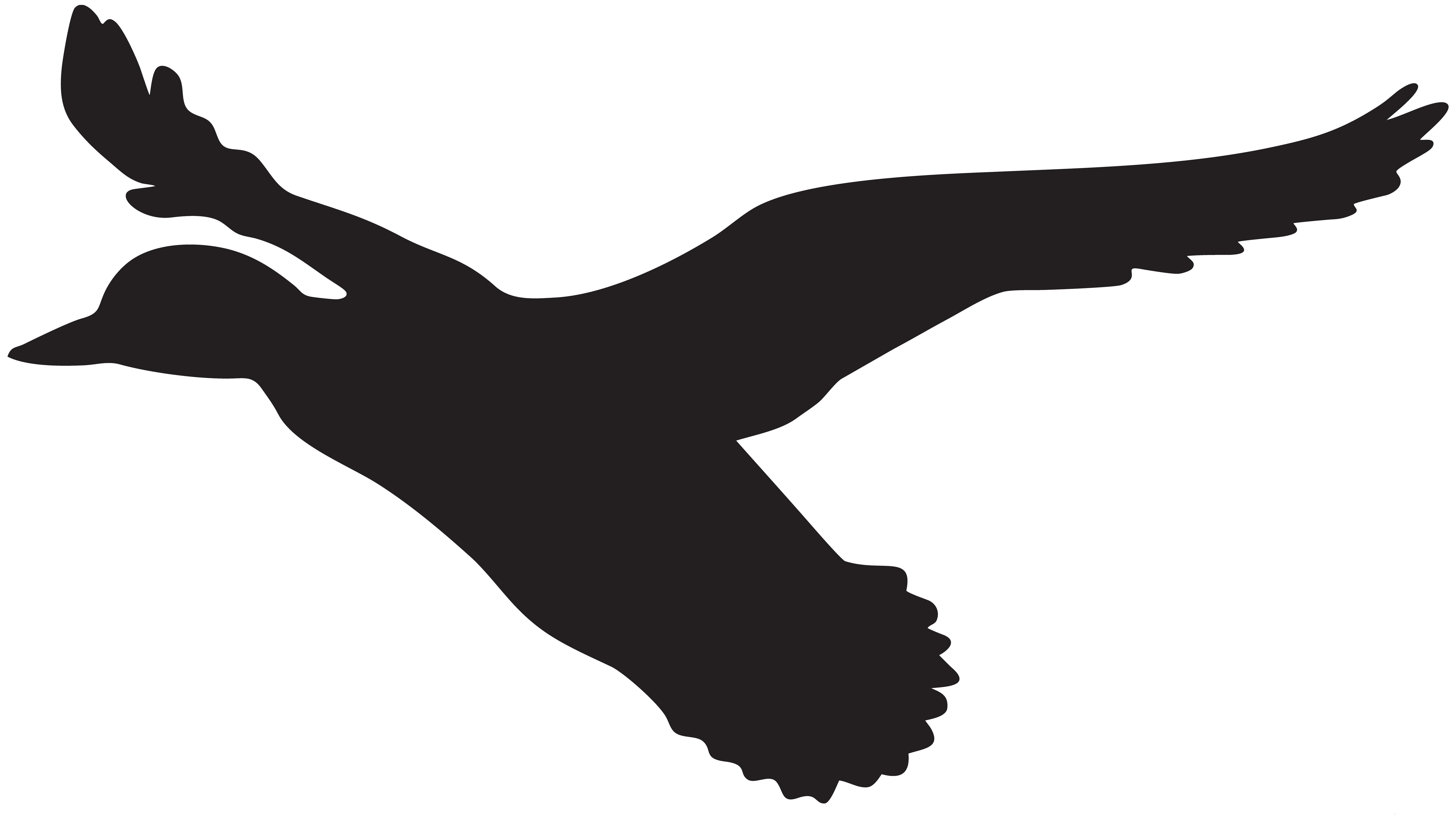 ... Duck Silhouette Clip Art - clipartall ...