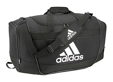 adidas duffel bag black and white clipart