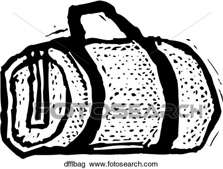 Clipart - Duffel Bag. Fotosearch - Search Clip Art, Illustration Murals,  Drawings and