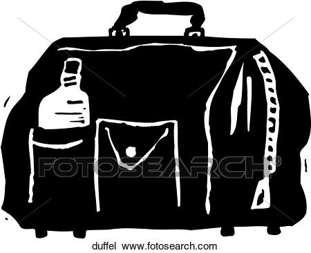 Clipart - Duffel. Fotosearch - Search Clip Art, Illustration Murals,  Drawings and Vector