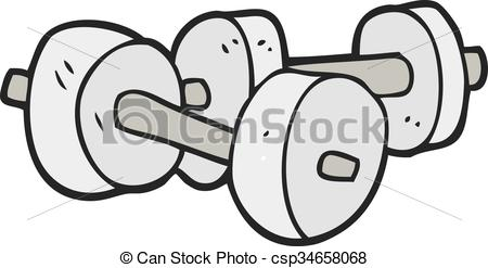 cartoon dumbbells - csp34658068