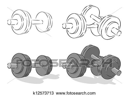 Clipart - Vector simple dumbbells . Fotosearch - Search Clip Art,  Illustration Murals, Drawings