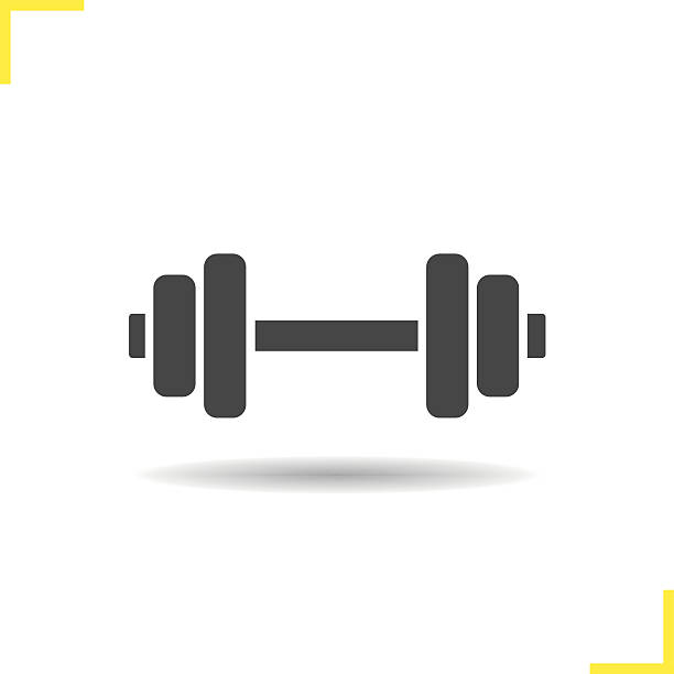Dumbbell icon vector art illustration